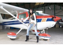 Scenic airplane flight in Bacau