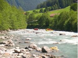 White water rafting on Jiu river