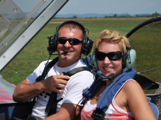 Flying lesson in Sovata