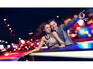 Limousine and light message in Bucharest for 2