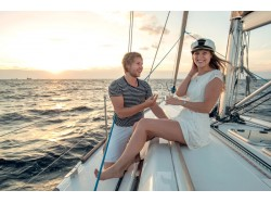 Romantic sailing cruise