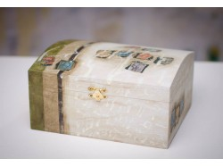 Hand Painted Custom-Built Wooden Box 19cm/12cm/10cm