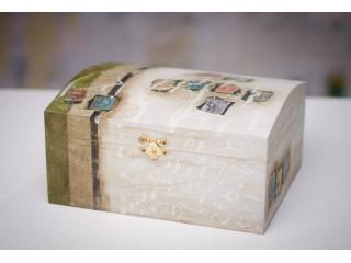 Hand Painted Custom-Built Wooden Box 19cm/12cm/10cm