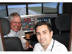Flight experience on an airliner simulator