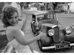 Vintage car driving lesson in Brasov