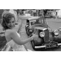 Vintage car driving lesson in Brasov