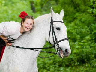 Initiation in horse riding in Bucharest