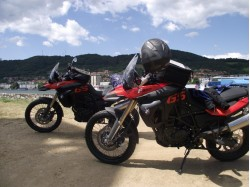 Motorcycle ride in Transylvania with a BMW F800
