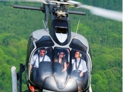 Helicopter tour to  Bran and Peles Castles from Brasov 6seats