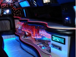 Limousine and light message in Satu Mare