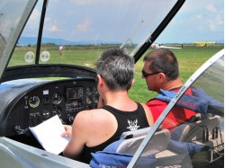 Flying lesson in Constanta
